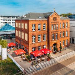 Café Außenbereich - Terrasse - Luftansicht